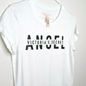 New Victoria's Secret Angel Sparkle T-Shirt- Small